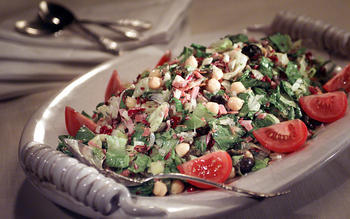 Chopped Antipasto Salad With Italian Dressing