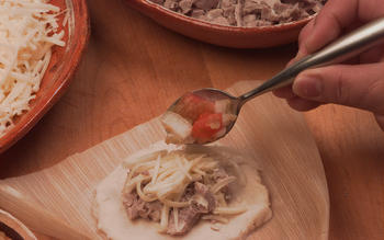 Pork and cheese tamales (Tamales de puerco y queso)