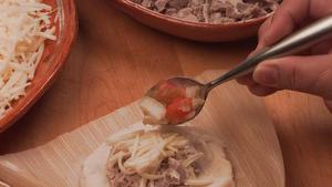 Pork and cheese tamales (Tamales de puerco y queso)