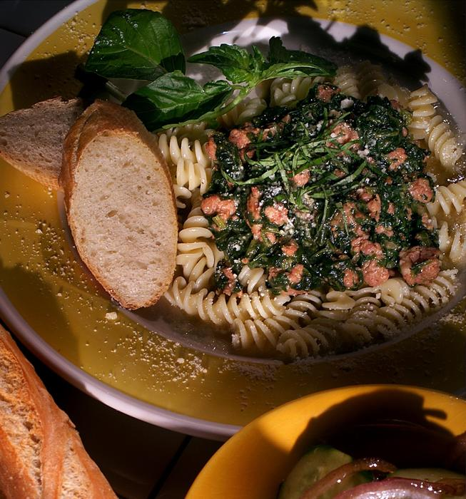 Fusilli With Creamy Spinach Sauce