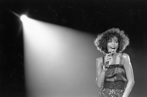 Whitney Houston, pictured performing onstage in 1988, would have been 50 years old on Friday. She died in 2012.