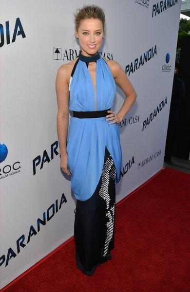 """Actress Amber Heard attends the premiere of """"Paranoia"""" at DGA Theater in L.A."""