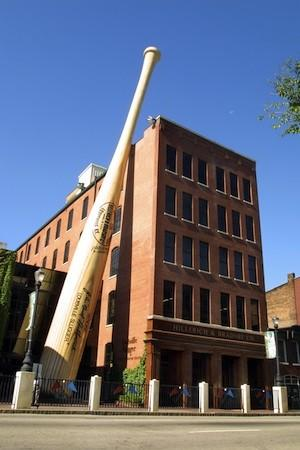 The world's biggest bat weighs 68,000 pounds and is 120 feet tall. It's a replica of Babe Ruth's 34-inch bat made by Louisville Slugger.
