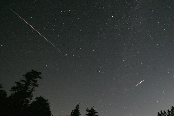 The Perseid meteor shower is sparked every August when the Earth passes through a stream of space debris left by Comet Swift-Tuttle. Perseid meteors are bright, and often leave luminous trails of gas.