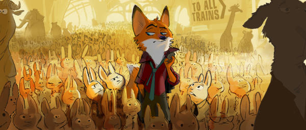 "A fast-talking fox is framed for a crime he didn't commit in Walt Disney Animation Studios' ""Zootopia"" due in theaters in 2016."