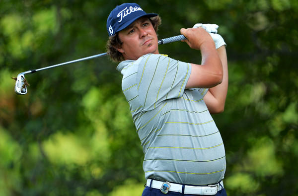 Jason Dufner follows through on his tee shot at No. 15 on Friday during the second round of the 95th PGA Championship.