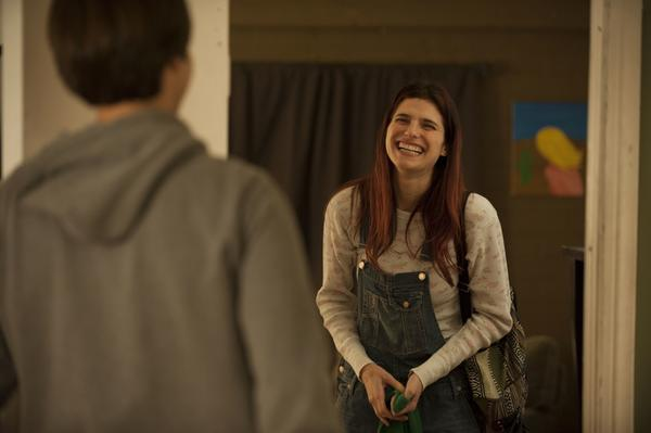 "Dimitri Martin and Lake Bell in a scene from ""In A World.."" The film is the actress' debut feature as writer and director."