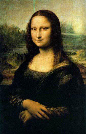 """Mona Lisa"" on display at the Louvre in Paris."