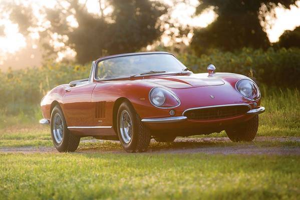 This 1967 Ferrari 275 GTB/4*S N.A.R.T. Spider is one of only 10 made, according to RM Auctions, which will put it up for bidding Aug 17. Many in the classic car community consider the 275/4 N.A.R.T. cars to be among the prettiest Ferraris ever made.