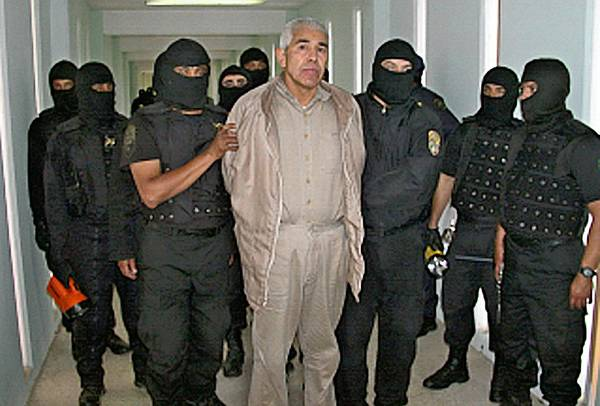 "Rafael Caro Quintero, seen in prison in 2005, was released on a technicality Friday after being convicted of the 1985 kidnapping and slaying of Enrique ""Kiki"" Camarena, a U.S. Drug Enforcement Administration agent."