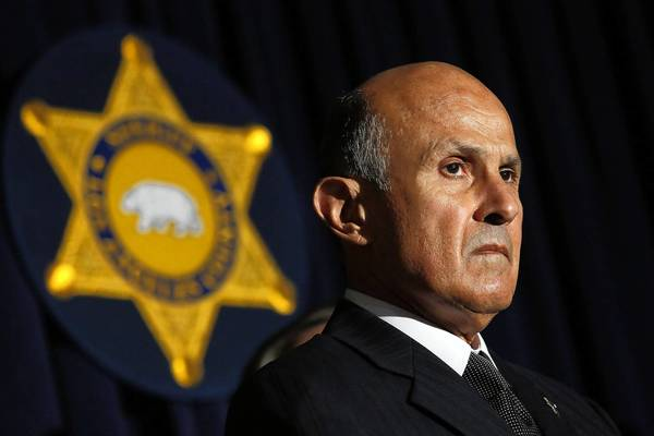 Los Angeles County Sheriff Lee Baca, seen here at a news conference in April, has announced he will run for reelection in 2014.