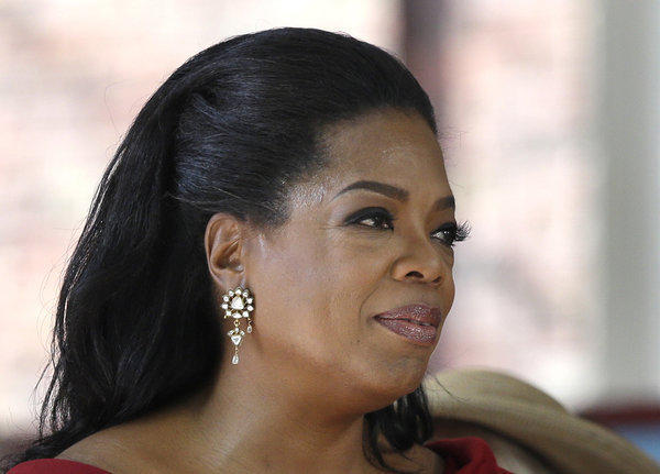 Oprah Winfrey in May 2013 after delivering the commencement address at Harvard University.