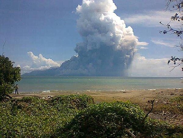 Mount Rokatenda volcano