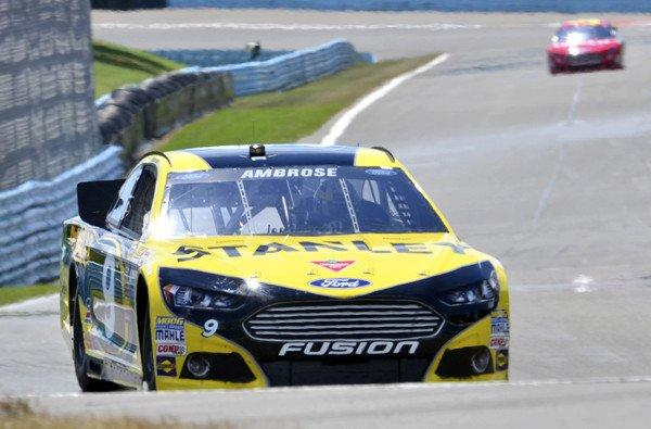 NASCAR driver Marcos Ambrose on the Watkins Glen track during Sprint Cup qualifying on Saturday.