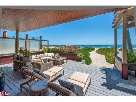 The Malibu beach home was once owned by actor-director Robert Redford.