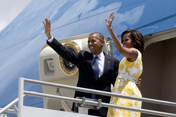 The Obamas leave Orlando on Saturday en route to Martha's Vineyard for a family vacation.