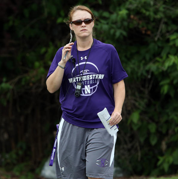 Northwestern video coordinator Darby Dunnagan.(Nuccio DiNuzzo/Tribune Photo)