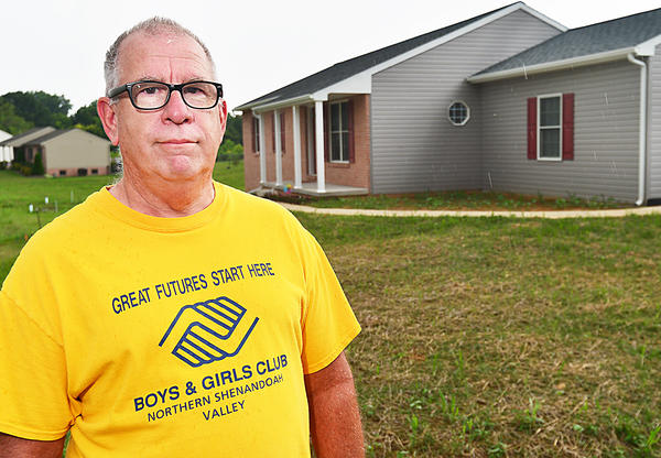 Joe Schaefer of Hagerstown stands outside his newly built home in the north end of Hagerstown.