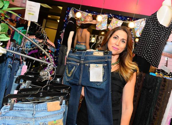Natalie Salamone has brought 'Behind the Seam,' her line of gently used designer jeans with stories, to Girlfriends Boutique on Main Street in historic Bethlehem.