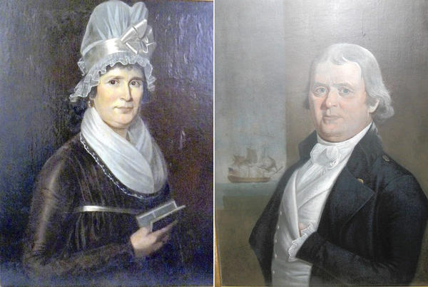 Margaret Hebbard Clay and Capt. Clay.