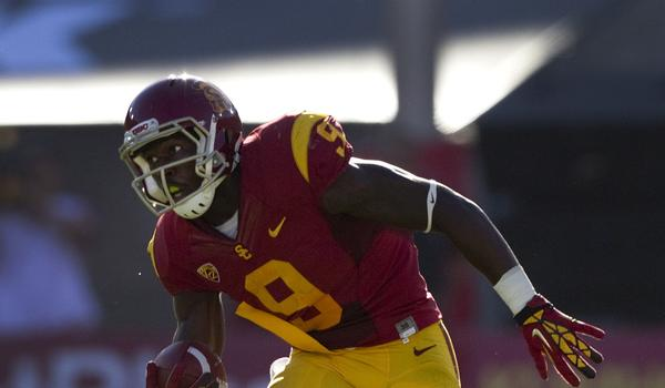 An injury forced USC wide receiver Marqise Lee to miss Saturday's team practice session.