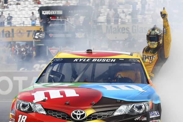 Kyle Busch was victorious at the NASCAR Sprint Cup Series Cheez-It 355 at The Glen at Watkins Glen International.