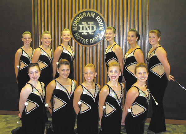 Washington County Show Kids members competed at the America Youth On Parade baton-twirling competition. Front row, from left, Meagan Sheehan, Tasha Kane, Harley Wenner, Kaitlyn Wassel and Hannah Chaney. Back row, Hailey Shelton, Lexie Hoffman, Anna Hull, Adrianna Watkins, Avery Court and Megan Langmyer.