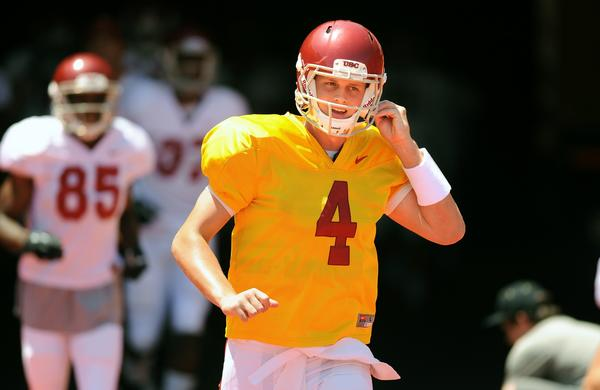 USC freshman Max Browne is no longer in the running for the Trojans' starting quarterback job.