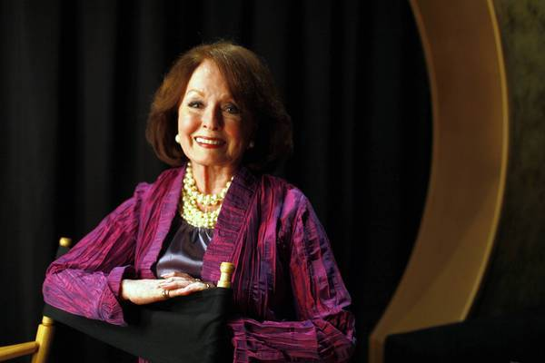 "Actress Ann Blyth at the Chinese Theater on April 28, 2013, to introduce her film ""Kismet"" as part of Turner Classic Movies' Classic Film Festival."
