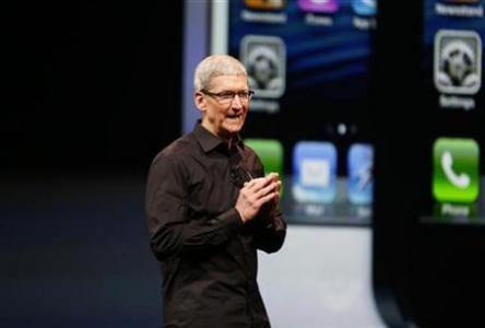 Apple Inc. CEO Tim Cook takes the stage after the introduction of the iPhone 5 in San Francisco, Calif. in September 2012. (Reuters/Beck Diefenbach)