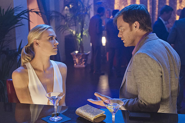 "Yvonne Strahovski as Hannah McKay and Michael C. Hall as Dexter Morgan in ""Dexter."""