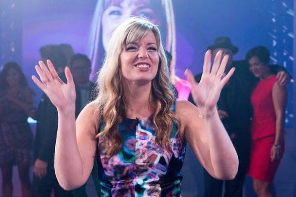 "Damaris Phillips celebrates her ""Food Network Star"" Season 9 victory."