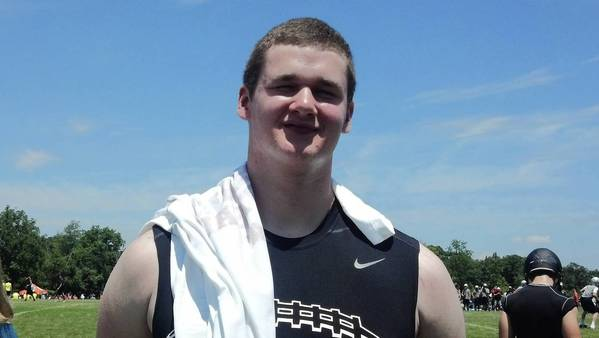 Maine South's offensive line will be anchored by Vanderbilt recruit Brendan Brosnan