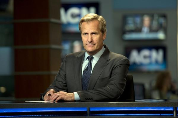 "Jeff Bridges as Will McAvoy in the news drama series, ""The Newsroom."""