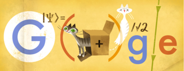 Google's doodle pays tribute to Austrian physicist Erwin Schrodinger, known for his dead-cat thought experiment