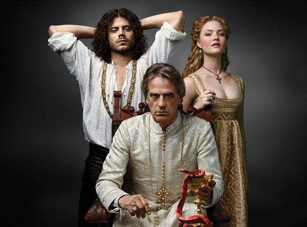 """The Borgias"" stars Francois Arnaud, Jeremy Irons and Holliday Grainger."