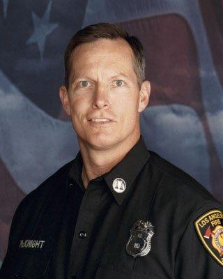 Los Angeles Fire Department Capt. Matthew G. McKnight was supervising dispatchers when he collapsed and died.