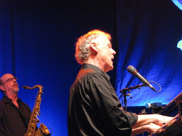 Bruce Hornsby, with horn man Bobby Read, perform at nTelos Wireless Pavilion, Portsmouth, Aug. 11, 2013.