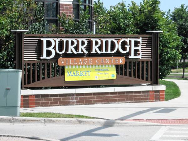 The bridge enhancement will complement the nearby Burr Ridge Village Center Shopping area.