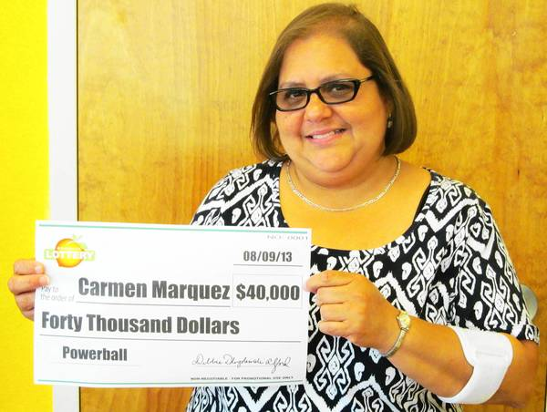 Disney castmember, Carmen Marquez, won $40,000 in Aug. 7 powerball drawing.