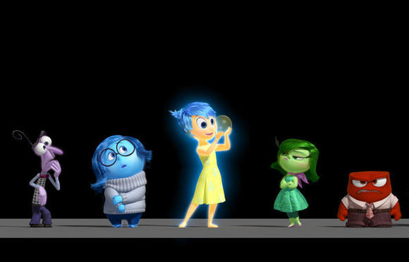 "Emotions are characters in Pixar's ""Inside Out."""