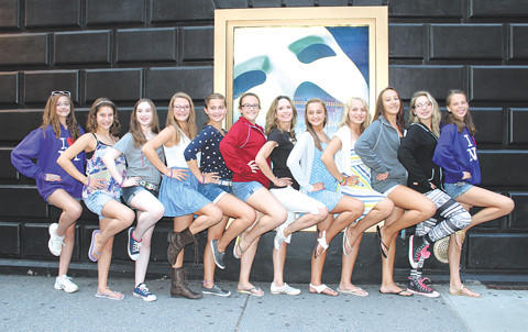Dance students from My Dance Studio in Smithsburg took a trip to New York City recently. From left, Hannah Yoder, Madeline Plank, Regina Lachemann, Sarah Peake, Korynne Gunder, Ally Spaid, Director Lezlee Sabo, Hannah Grove, Madalyn Grove, Hannah Drumm, Abby Kauffman and Jenny Sherman.