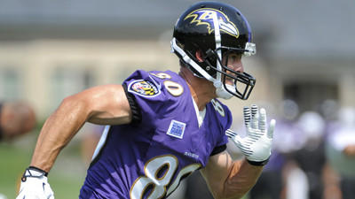 Ravens' Brandon Stokley catches touchdown pass in first practic…