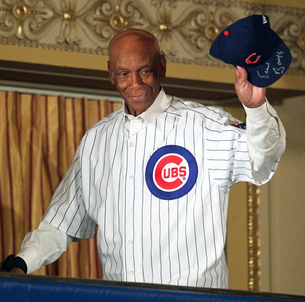 Ernie Banks during the 2012 Cubs Convention.