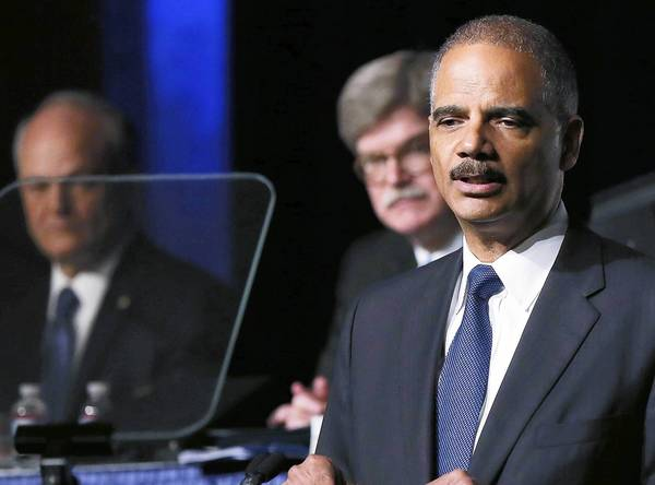 Atty. Gen. Eric H. Holder Jr. declared Monday that it was time to rethink get-tough federal sentencing policies that have swollen prison populations.