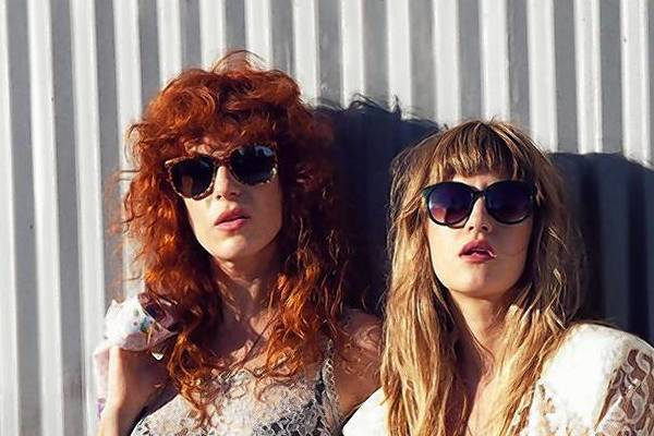 Julie Edwards, left, and Lindsey Troy of Deap Vally.