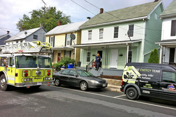 Firefighters responded to a fire Tuesday morning in a duplex on Mitchell Avenue in Hagerstown.