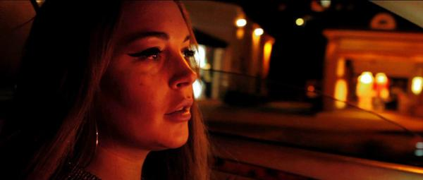 Lindsay Lohan in a scene from the movie The Canyons.