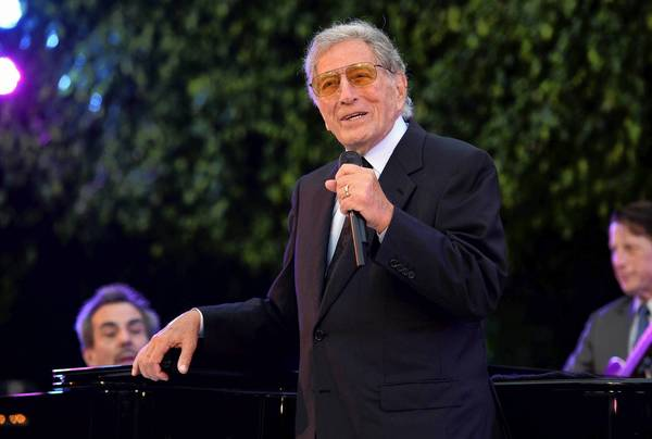Singer Tony Bennett performs during the 87th birthday celebration of Tony Bennett and fundraiser for Exploring the Arts, the charity organization founded by Bennett and wife Susan Benedetto in Beverly Hills, California.