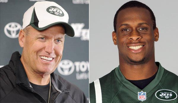"New York Jets Coach Rex Ryan called rookie quarterback Geno Smith ""a tremendous player."""